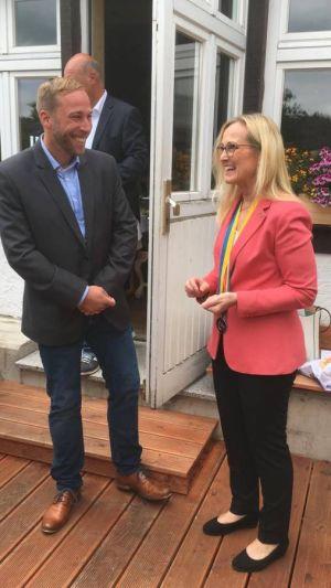 Freuen sich auf eine gemeinsame intensive Zusammenarbeit: Präsidentin Astrid Laue-Savic und der neue Clubsekretär Björn Gollée.