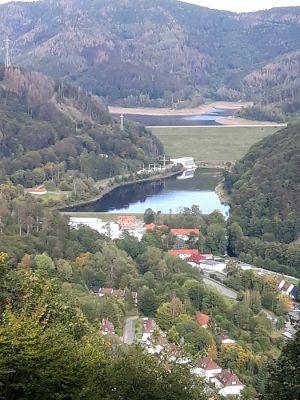 Ausblick auf die Odertalsperre.