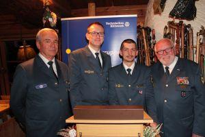 (Von rechts) Bernd Balzer, Y-R Lyko, M. Matrian, Jürgen Kuhnert
