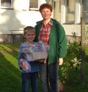 Jugendwartin Janina Schmidt und Lucas Höche, der wurde vorab geehrt wurde