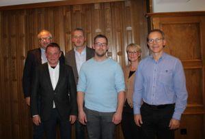 Vorne: Hans-Jörg Fritzowsky, Tobias Hungerland, Jörg Beckmann. Hinten: Carsten Kröger, Rolf Lange, Wencke Schwickert-Marquardt (v.li.)