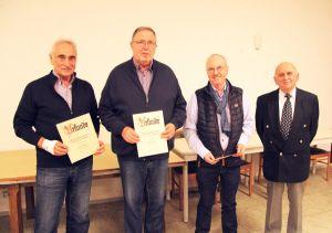 Friedrich mit den Geehrten Walter Gottschling, Gernot Oehne und Hardy Thomas