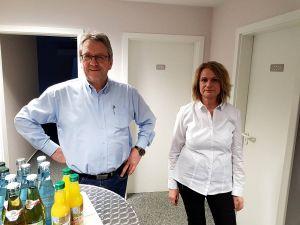 Die Firmeninhaber Doris und Bernd Kunze beim Empfang der Rotarier.