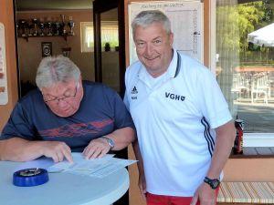 Der Plan steht – Dieter Gattermann (links) und Roland Stahl.