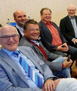 Gute Stimmung bei der Vorstandssitzung. Gut gelaunt sind (von links) Assistant Governor Joachim Bruns, Florian Mangold, Andreas Philippi, Erik Cziesla und Geert Haaphoff…