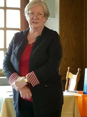 Thea Schunk, die Vorsitzende des Kreisverbandes Legasthenie Osterode, referierte beim Rotary Club Bad Lauterberg-Südharz.