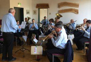 Der Musikzug der Feuerwehr Schwiegershausen sorgte für Stimmung
