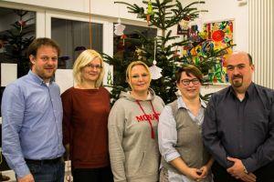Der Vorstand: Vorsitzender Andreas König, Schriftführerin Manuela Klingebiel-Schoberth, 2. Beisitzerin Sandra Kop, Schatzmeisterin Katja Schwarze,1. Beisitzer Thomas Mund (von rechts)