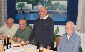 Der Vorstand von rechts: M.Kindereit, R. Friedrich, H. Luthin, R. Ziegenbein