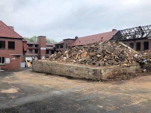 Die ersten Gebäude sind bereits abgerissen.