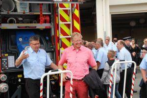 Gute Stimmung herrschte bei der Feuerwehr...