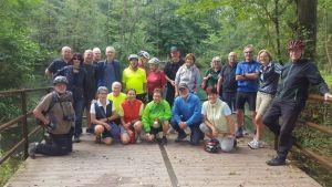Die Radgruppe machte eine Tour zur Rhumequelle