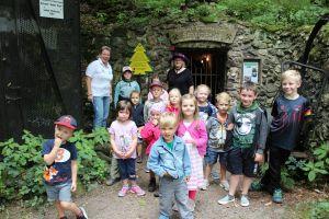 Für die Kinder gab es eine spannende Schatzsuche im Kurpark...