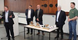 Die Juroren (von links): Torsten Stein, Jörg Brille, Jens Besser, Ernst Schwanhold und vom Nationalpark Frank Steingass.