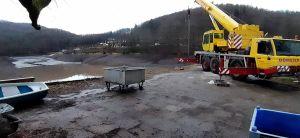 Auch Freitagmorgen standen auf dem Damm schwereres...