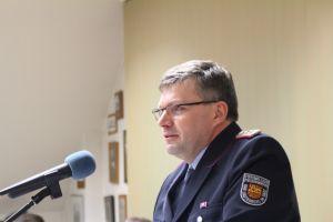 Ortsbrandmeister Bernd Wiedemann berichtete von einem einsatzreichen Jahr und den aktuellen Herausforderungen