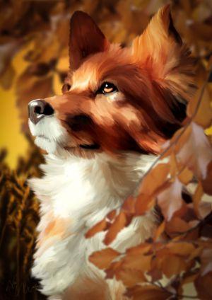 Eins der Tierportraits, die Lena gemalt hat...