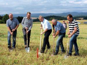 Gingen entschlossen zu Werke (von links): Holger Luthin, Mark Winter, Thomas Gans, Horst Winter und Wolfgang Graf.