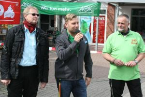 v. links: Dr. Thomas Gans, Stephan Masch (Kinder-Hospiz) und Matthias Weitzel