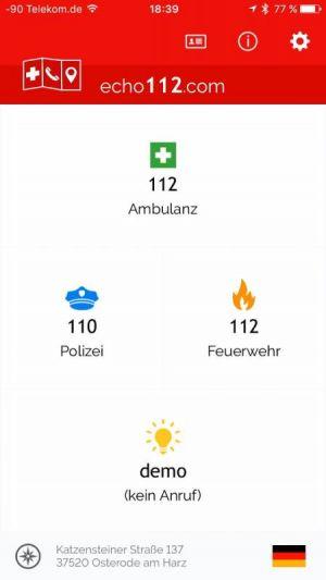 Die Echo112-App ist eine große Hilfe…