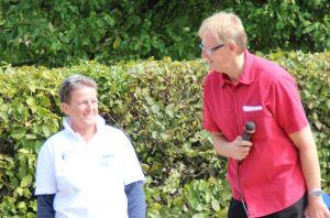 Janka Eckhardt und Bürgermeister Dr. Thomas Gans konnten sich über ein gelungenes Fest freuen