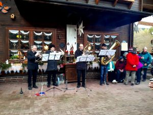 Das Südharzer Bläser-Quartett beim ersten Auftritt des Jahres.