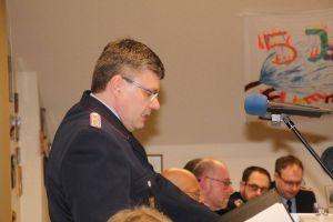 Ortsbrandmeister Bernd Wiedemann leitete die harmonische Versammlung