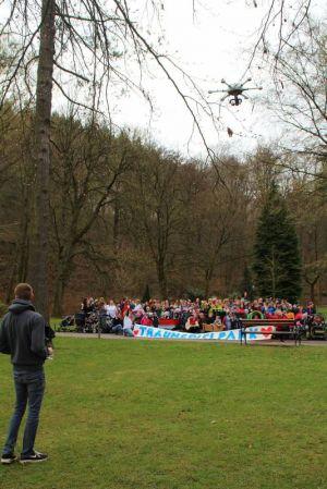 Spontane Drohnen-Foto-Aktion im Kurpark....