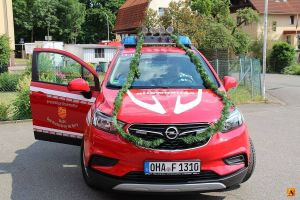 Der neue Kommandowagen der Bad Lauterberger Feuerwehr bei der offiziellen In-Dienst-Stellung im Mai 2018.