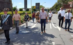 Trotz Sommerpause und Ferien war auch der Rat der Stadt mit einer Delegation vertreten.