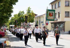 Auch beim großen Festumzug am Sonntag war das Musikcorps Marchingpower dabei.