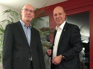 Sind sich einig, dass die Bekämpfung der Kinderlähmung auch hier vor Ort ein wichtiges Thema ist: Hinrich Bangemann (rechts), Präsident, und Stefan Flindt, Poliobeauftragter des Rotary Clubs Bad Lauterberg-Südharz.