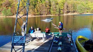 Die Wasserskianlage fand schnell viele Fans. Foto: D. Pfeiffer