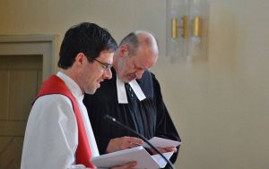 Pastor Bergner und Pastor Depker predigten gemeinsam