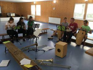 Band bei Probe. Foto: Frauke Metzger