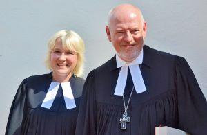Begleiter im Glauben: Pastorin Amelie Pradzynski und Landessuperintendent Ekhard Gorka.