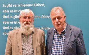 Alte Freunde und Kollegen: Der ehemalige Herzberger Pastor Bernhard Sulimma (links) und Wilfried Manneke.