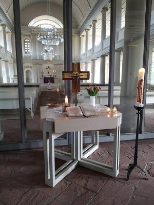 Leere Nicolaikirche. Foto: Pastor Gerd Florian Beckert