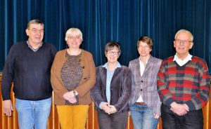Als KKT-Vorstand wiedergewählt (von links): Udo Salzmann, Gabriele Hann, Ingrid Baum, Silvia Köhler und Gerhard Lindemann.