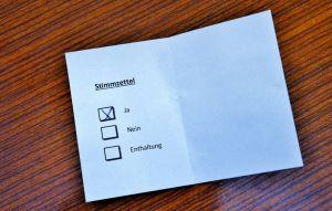 …wobei bei den Wahlen natürlich geheim abgestimmt werden musste.