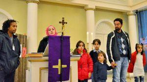 Neshim Darwich und ihre Familie dankten für viele helfende Hände hier in Deutschland.