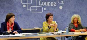 Gestalteten den Austausch (von links): Ute Augat, Roswitha Becker-Ubbelohde und Brigitte Maniatis.