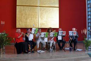 Der Herzberger Posaunenchor, der auf ein 50jähriges Bestehen zurückblicken kann