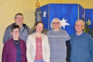 Der Kirchenkreistagsvorstand mit dem neuen Mitglied Heidrun Gunkel (Mitte).