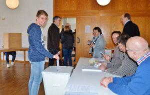 Jannik aus Eisdorf könnte der jüngste Wähler der Landeskirche gewesen sein.
