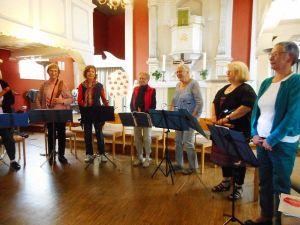 """Das Ensemble """"LauterFlöten"""" konnte sich über langanhaltenden Applaus freuen. Foto: Anke Gropengießer"""
