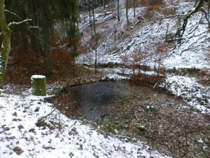 36.Punkt Unvollendeter Teichdamm im Gödeckental