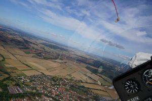 In der Luft: atemberaubender Panoramablick.
