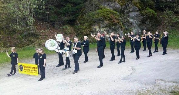 Marschieren, Musizieren, Mitvoten – das Musikcorps Marchingpower zeigt, wie's geht.