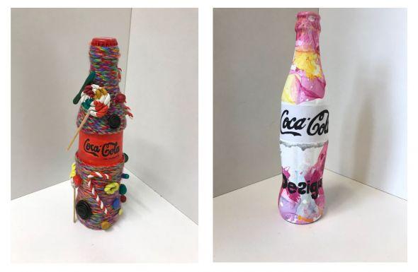 Produktdesign: Werke von Hannah Krispin (links) und Lea Glettenberg, Schülerinnen der 9. Klasse.